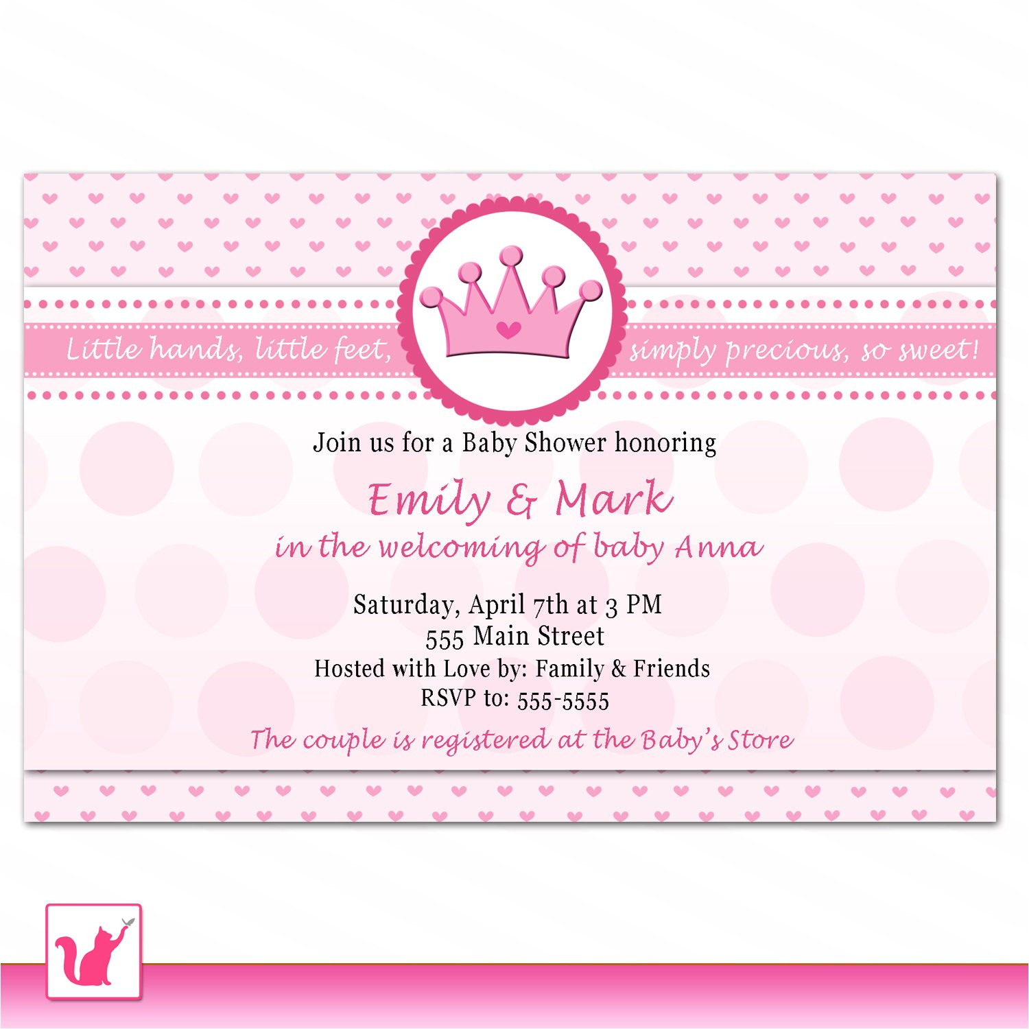 printable princess baby shower invitations tar