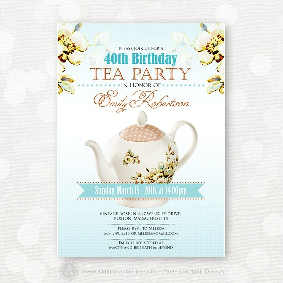 post printable adult birthday party invitations floral