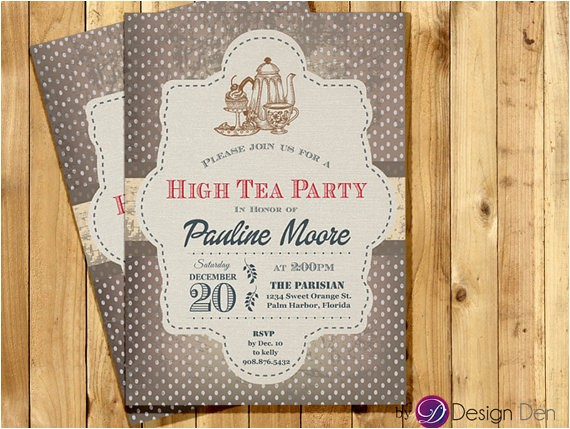 adult tea party invitation for womanhigh