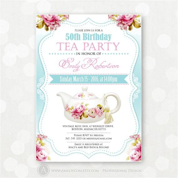 Tea Party Invitation Ideas for Adults Birthday Invitation Tea Party Adult Girl Birthday Invite