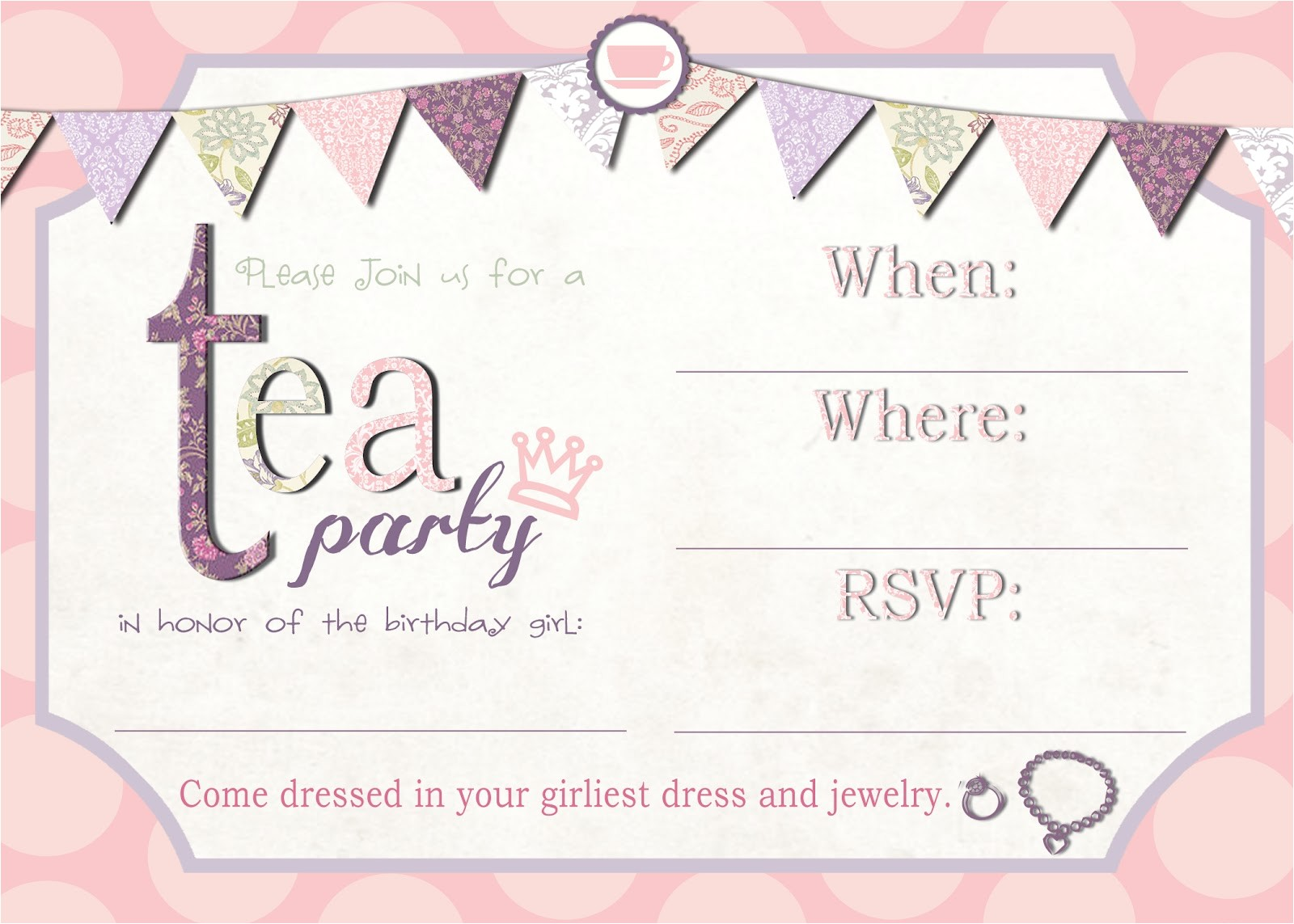 free tea party invite