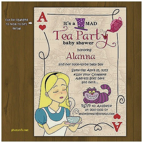 tea party themed baby shower invitations