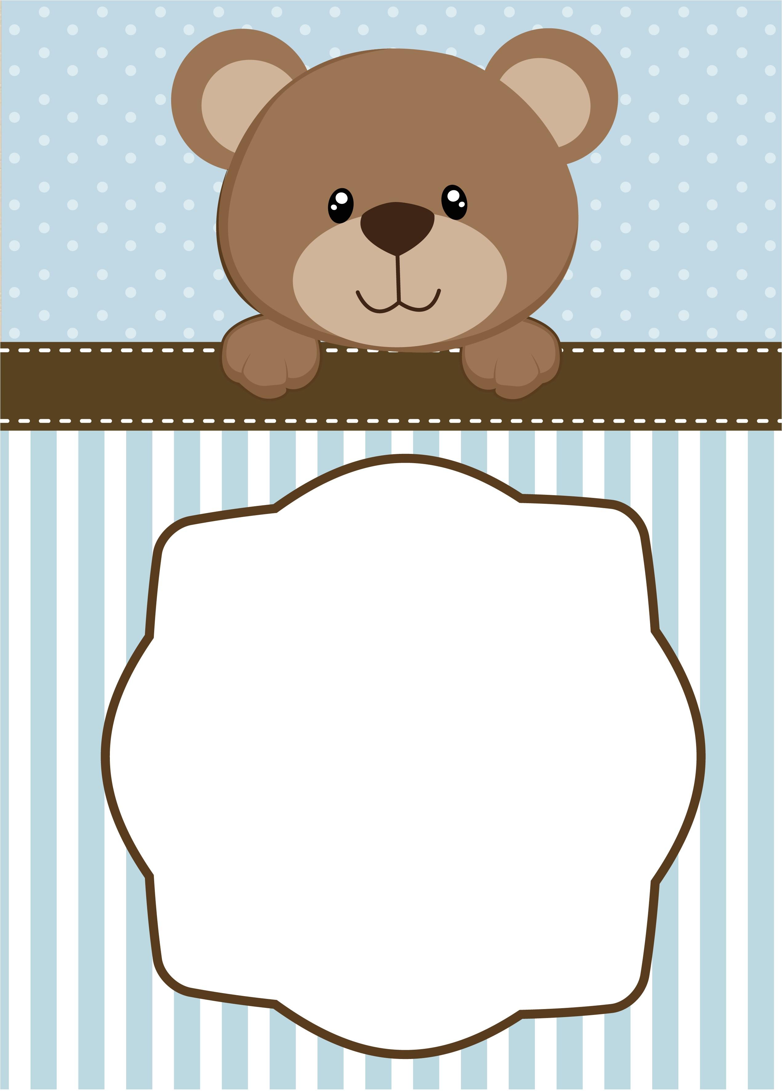 create teddy bear baby shower invitations printable