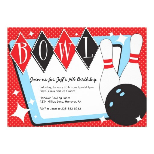 ten pin bowling invitations