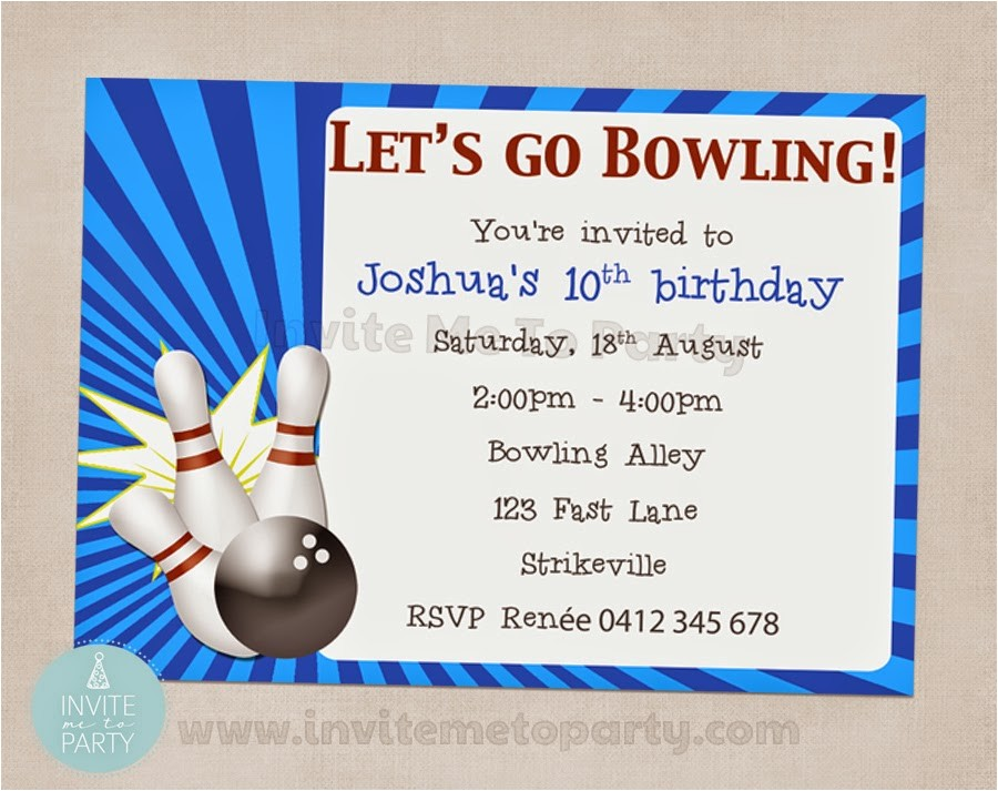ten pin bowling party bowling party