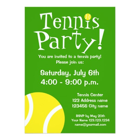 tennis party invitations for birthdays or bbq 161438933734155523