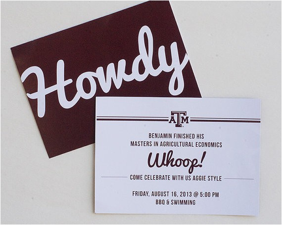 Texas A&m Graduation Party Invitations Texas A&m Aggie Grad Announcement by Myownbrandofhappy On Etsy