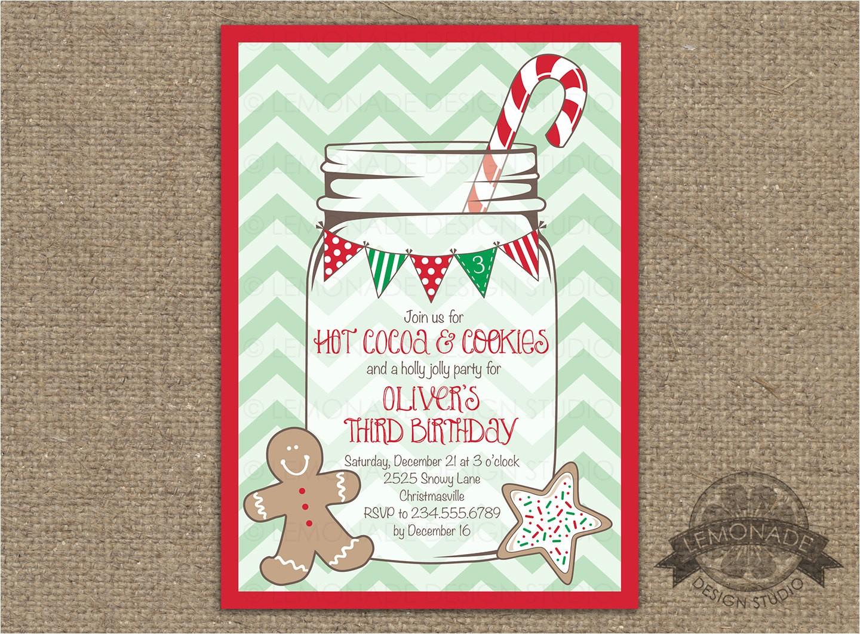christmas birthday party invitation any