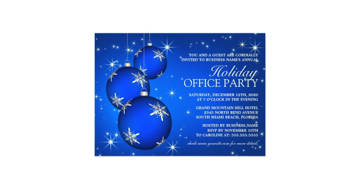 corporate holiday party invitation text