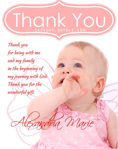 thank you messages baptism 2