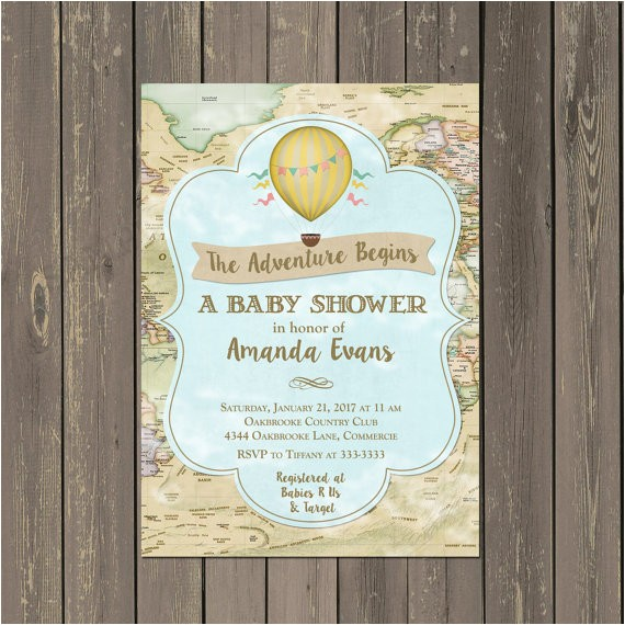 world adventure baby shower invitation hot