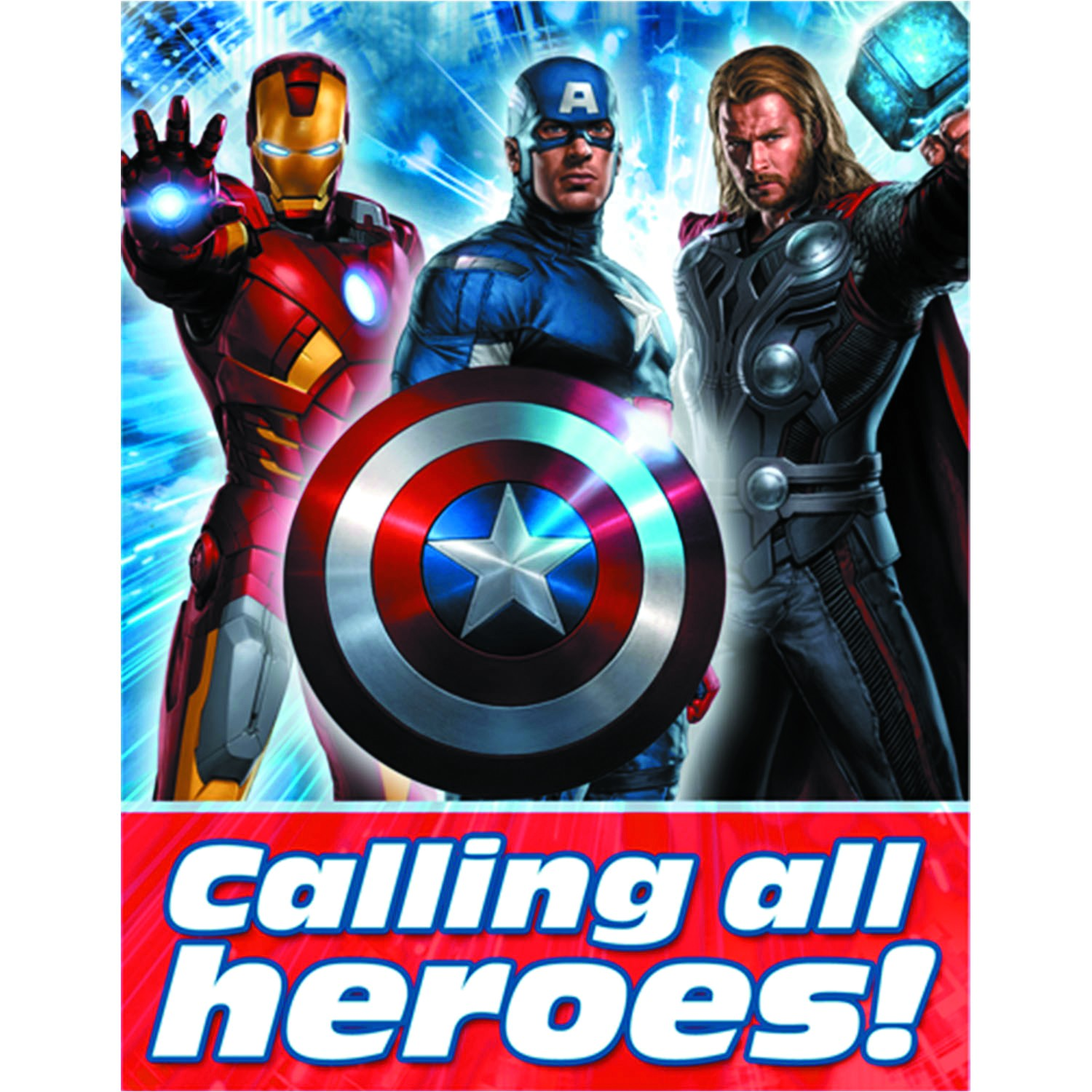 The Avengers Party Invitations Previewsworld Avengers Party Invitations 8pk C 0 1 3
