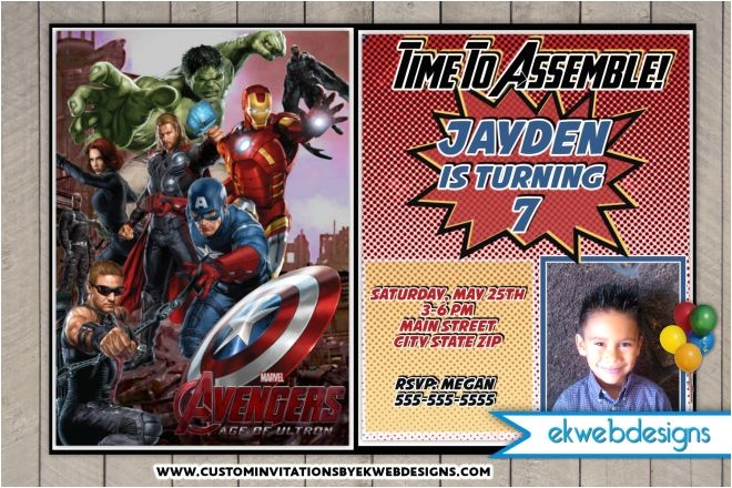 the avengers birthday invitations the avengers age of ultron