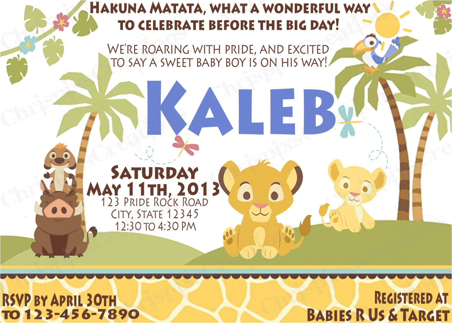 how to select the lion king baby shower invitations printable