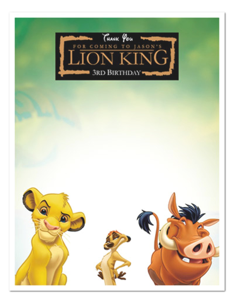 The Lion King Birthday Party Invitations Lion King Birthday Invitations – Gangcraft