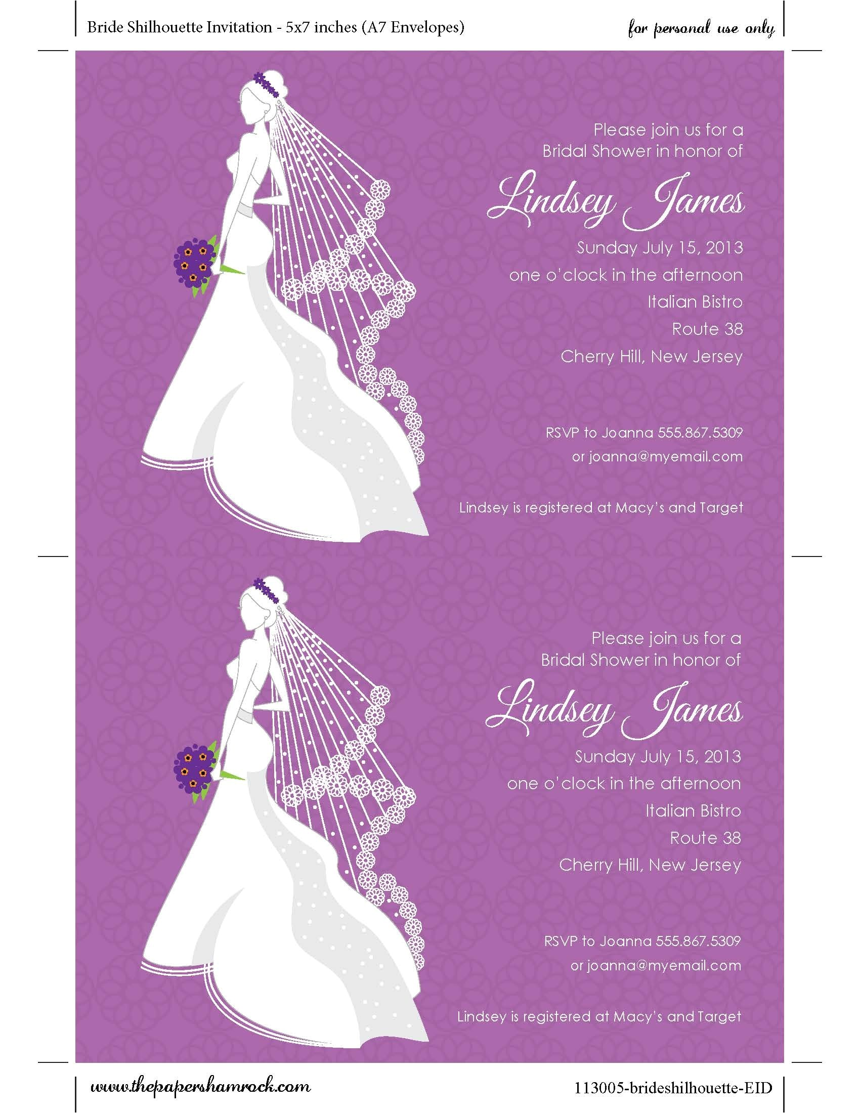 beach themed bridal shower invitation wording