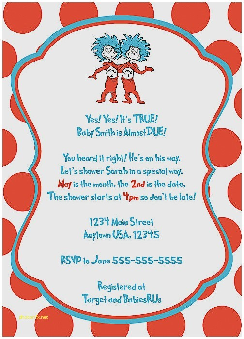 thing 1 and thing 2 invitations baby shower