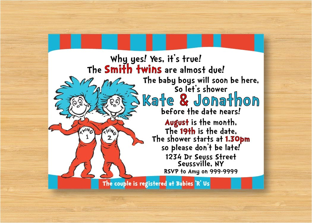 thing 1 and thing 2 twins baby shower