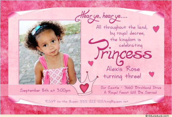 polka dot princess invitation
