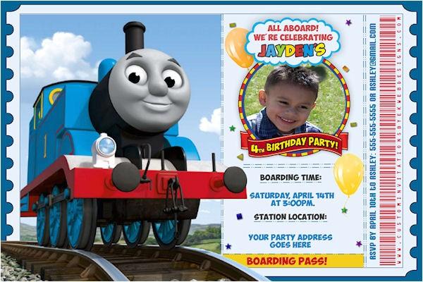attractive thomas the train birthday invitation ideas