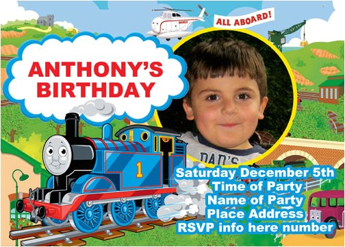 thomas the train birthday party invitations