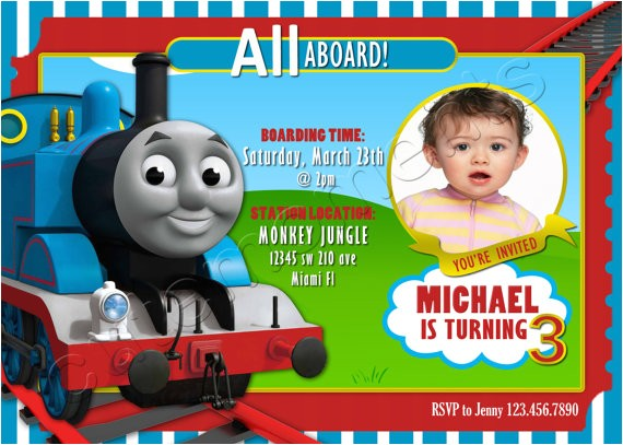 thomas the train personalized birthday