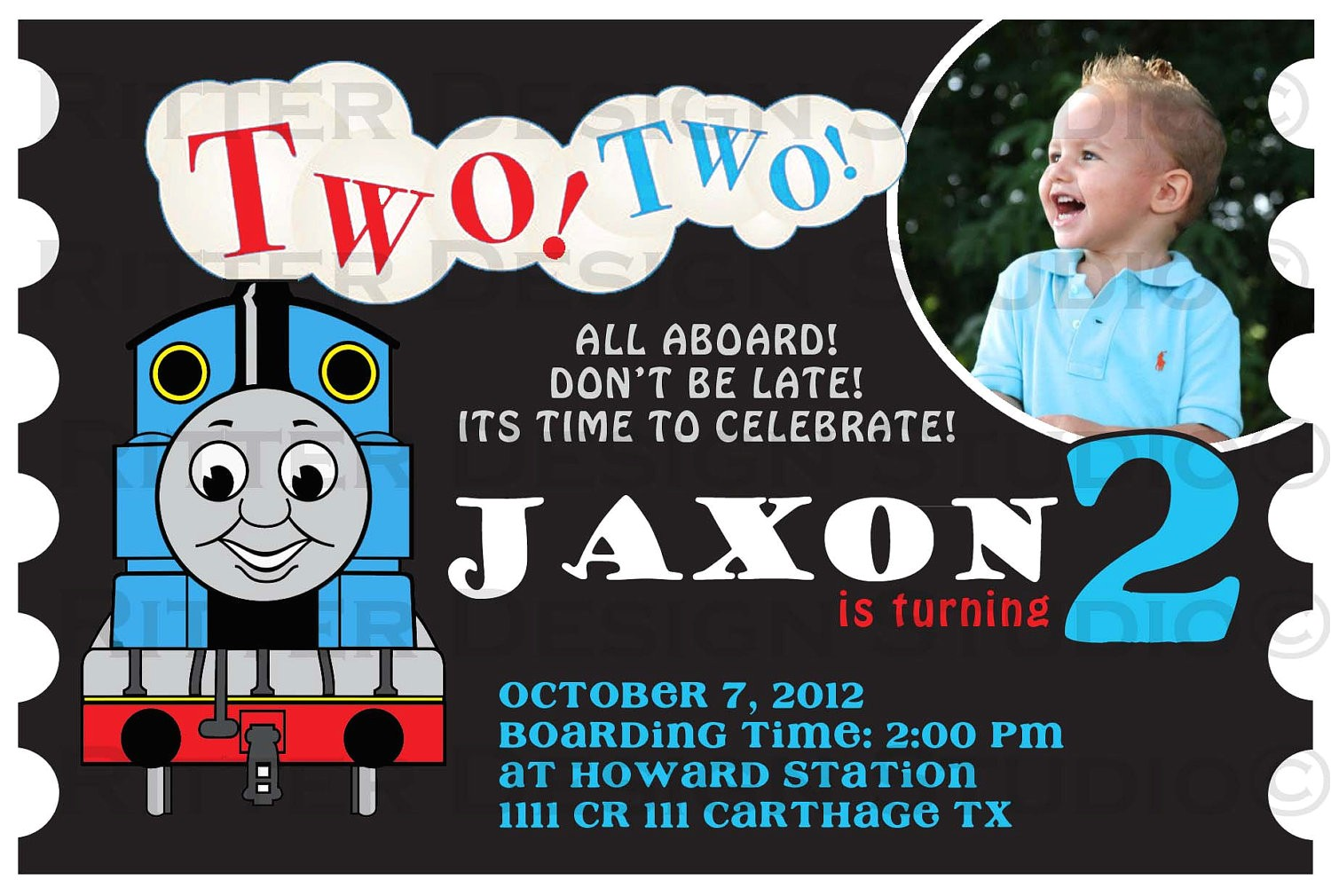 free thomas and friends birthday