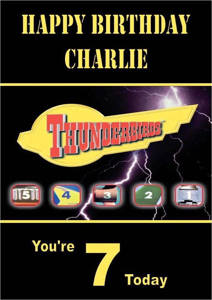 personalised thunderbirds birthday card 128 p