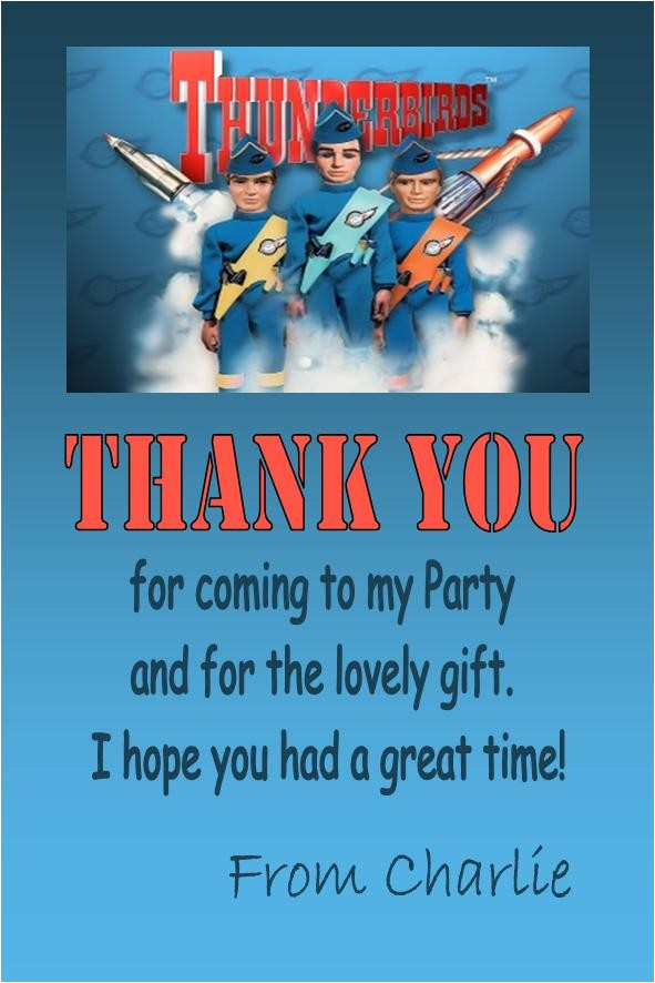 personalised thunderbirds thank you cards 615 p