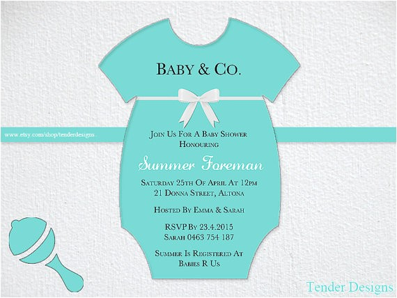 tiffany baby shower invitation baby co