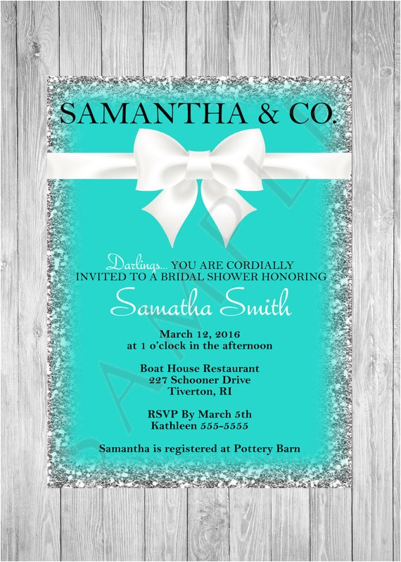 bridal shower invitation tiffany and ref=market