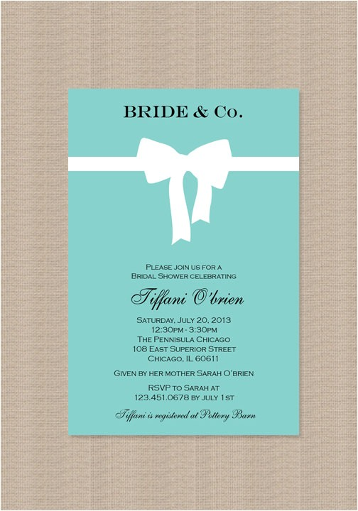 bridal shower invitations tiffany theme