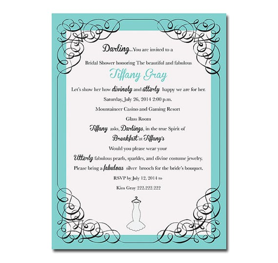 tiffany co bridal shower