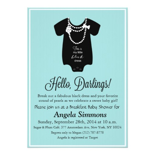tiffany blue baby shower invitation 5 x7