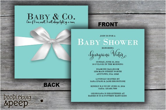 t box baby shower invitation tiffany