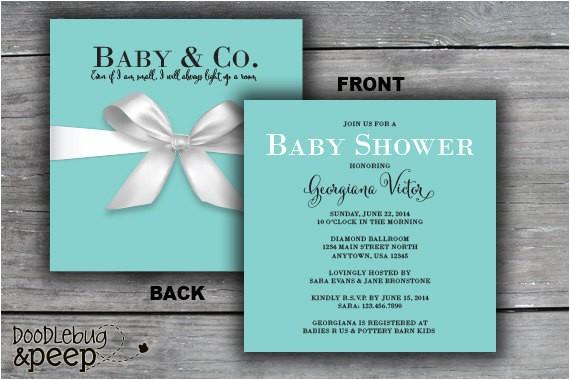 t box baby shower invitation tiffany