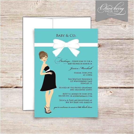tiffany baby shower invitations