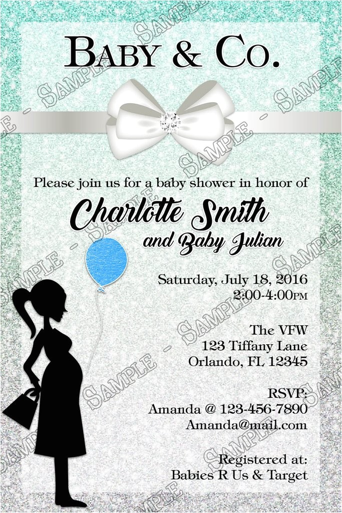 tiffany co tiffanys baby boy baby shower invitations