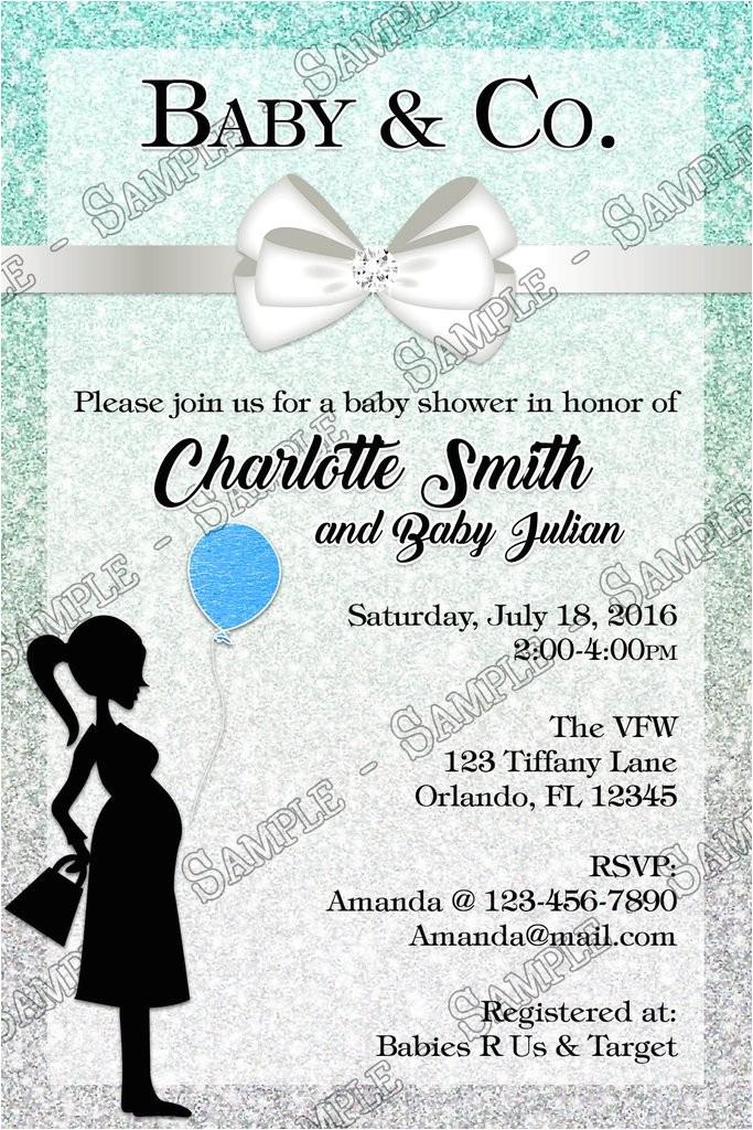 tiffany co tiffanys baby boy baby shower invitations