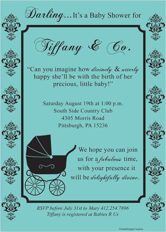 tiffany baby showers