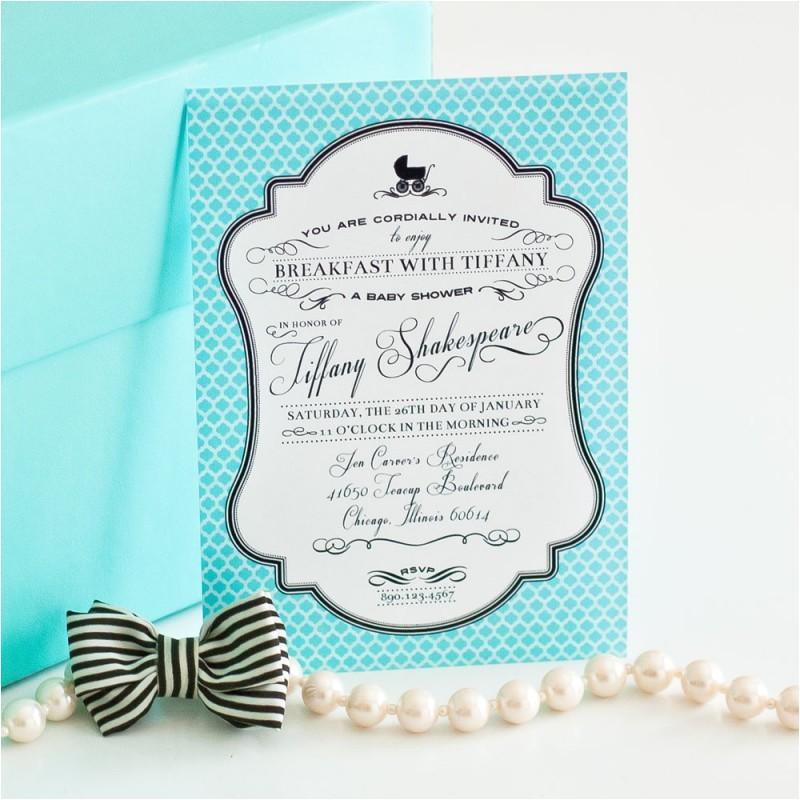 breakfast tiffanys baby shower invitation
