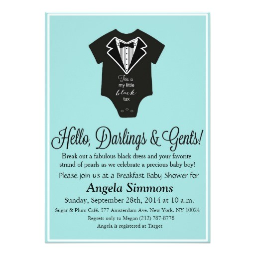 tiffany blue baby shower invitation