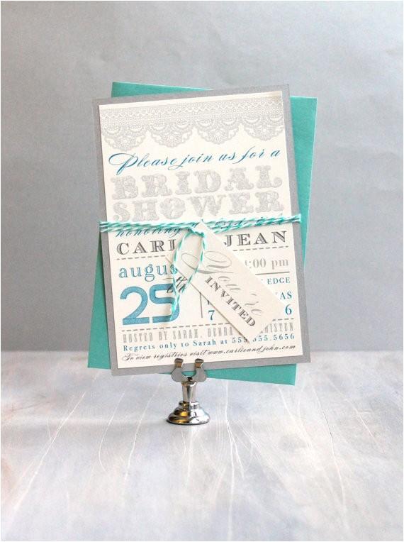 aqua tiffany blue bridal shower lace