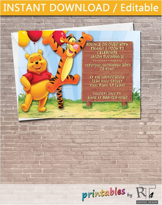 winnie the pooh and tigger party