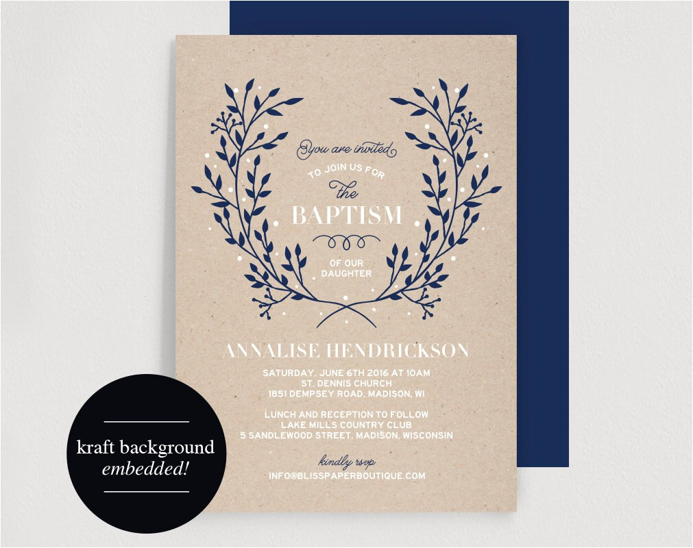 tiny prints baptism invitations