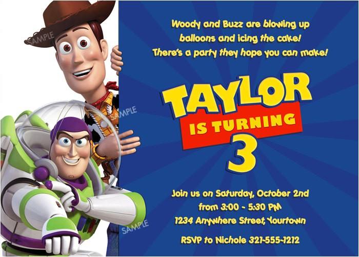 personalized toy story birthday invitations