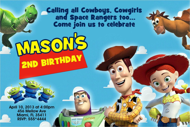 Toy Story Photo Birthday Party Invitations Mrs Invites On Etsy