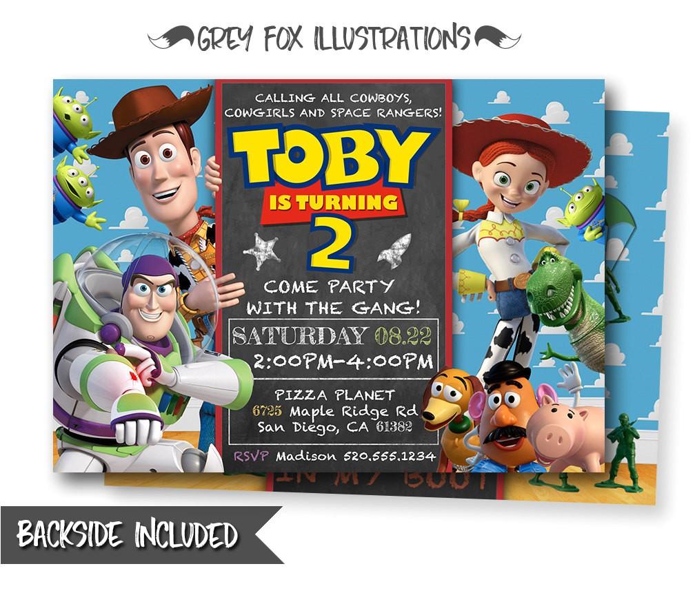 toy story invitation toy story invite