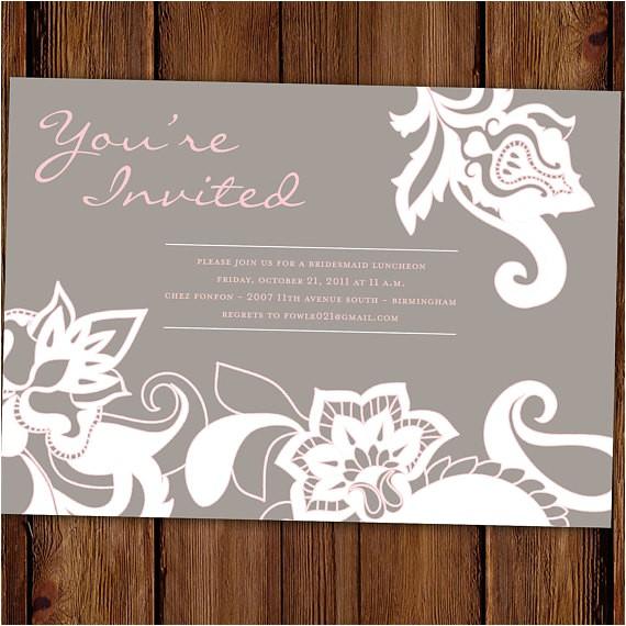 traditional bridal shower invitation