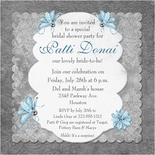 traditional memories bridal shower invitation